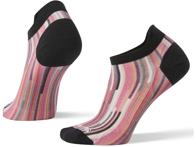 Smartwool PhD Run Ultra Light Print Micro Chaussettes Femme, brigth coral